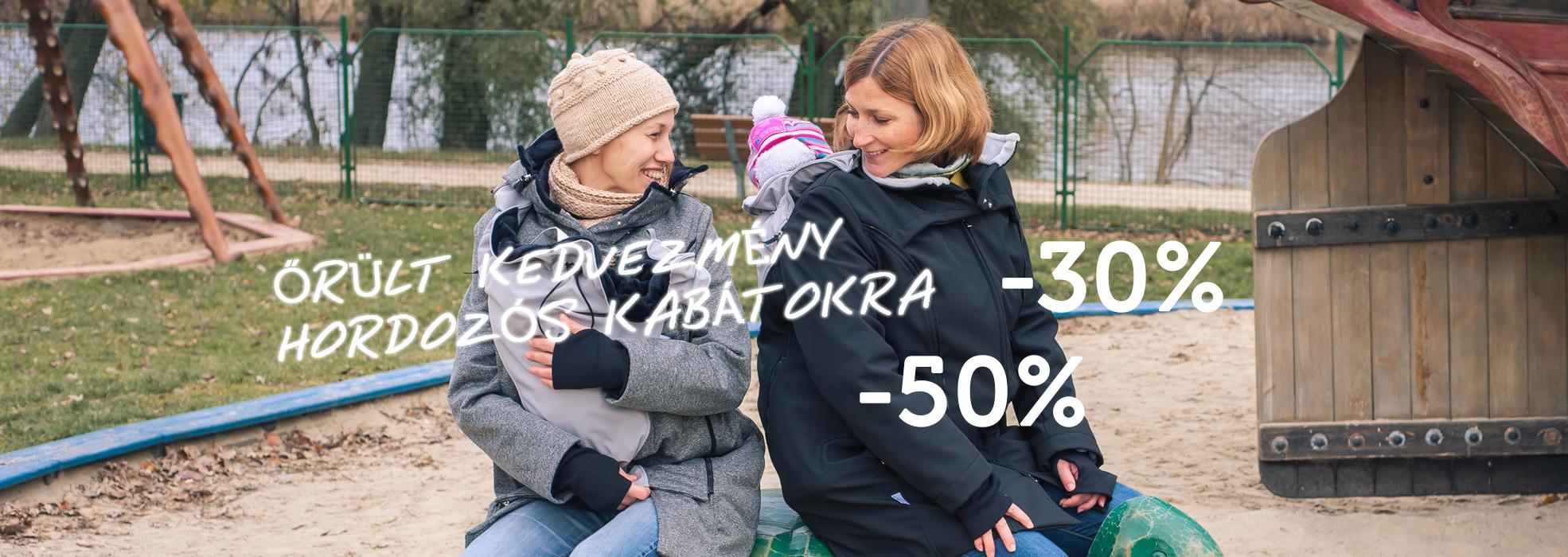 -50-30% hordozós kabát akció