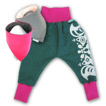 MAGYARINDA® - Babanadrág babahordozáshoz + 2 babasál SZETT | Pink-szürke | több méretben
