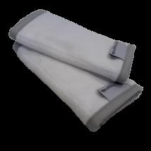 Magyarinda® - Frottír pántvédő Organic natur | Fehér csatos babahordozókhoz