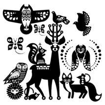 MAGYARINDA® - EGYEDI MINTA - erdei állatok