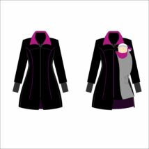 Magyarinda® - Hordozós kabát bővítő betéttel 2019 ÚJ!!- Bélelt Softshell - Bíbor Pink