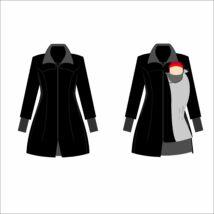 MAGYARINDA® - Hordozós kabát bővítő betéttel 2019 ÚJ!!- BÉLELT Softshell - CSÓKA