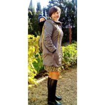 MAGYARINDA® - Hordozós kabát bővítő betéttel - BÉLELT Softshell - KANÁRI FEKETE