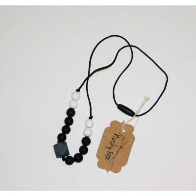 Szilikon nyaklánc - Fekete Gyémánt