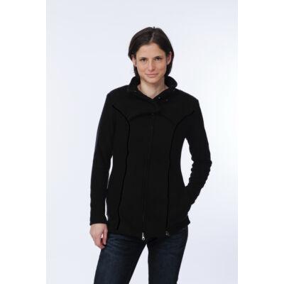 MAGYARINDA® - Hordozós pulóver bővítő betéttel - Micropolar FEKETE