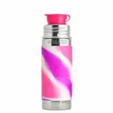 Pura TERMO® kulacs Sportkupakkal - 260 ml Pink Márványos