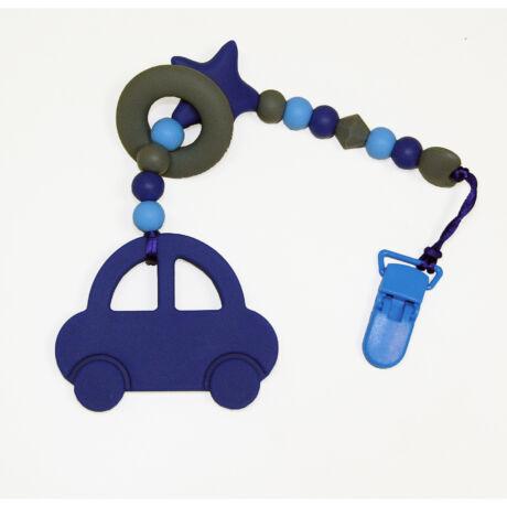 autó nusky toys kék szilikon rágcsalánc