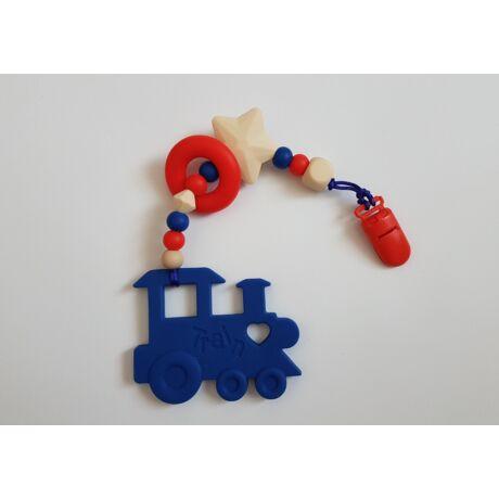 vonat nusky toys zöld szilikon rágcsalánc