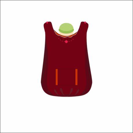 !RÉGI FAJTA! Magyarinda hordozós takaró - Vörösbegy