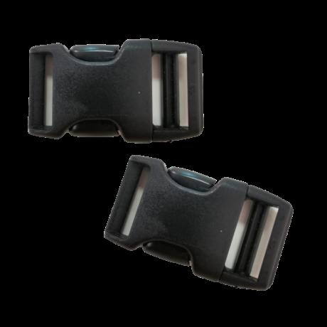 20 mm Klikk csat 1 pár - Fekete | Magyarinda®