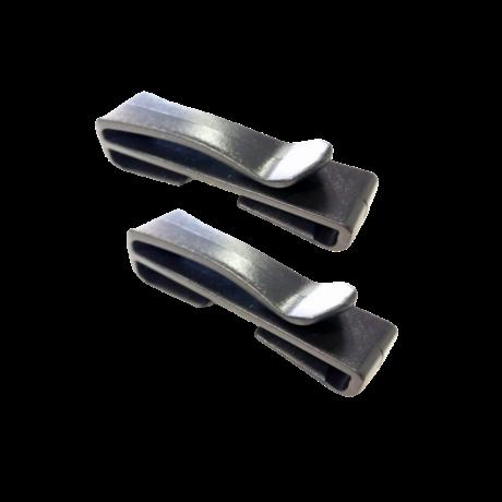 25 mm kampó 1 pár - Fekete | Magyarinda®