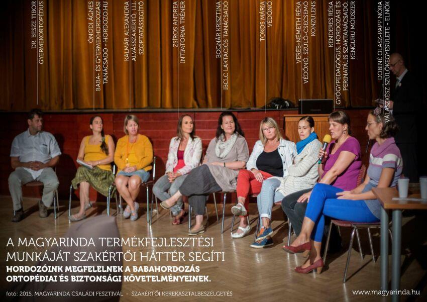 Szakértői kerekasztal beszélgetés a Magyarinda Fesztiválon 2015-ben
