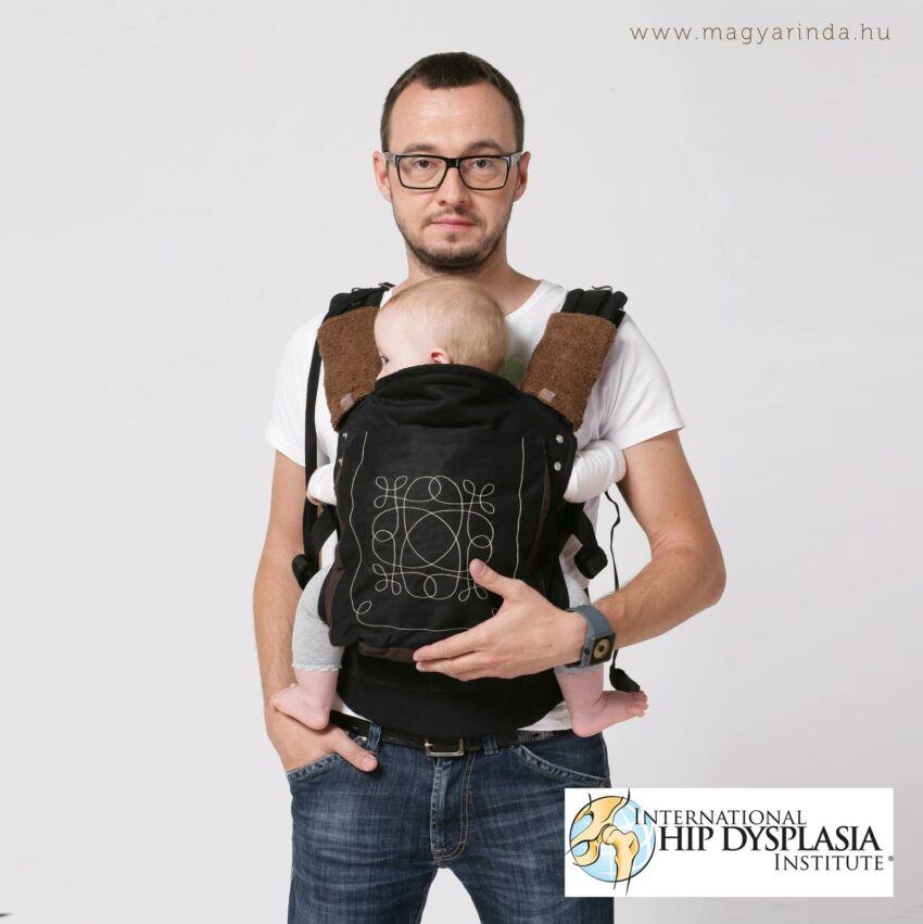 Magyarinda Szmpla és Klasszik babahordozók a nemzetközi Hip Dysplasia Institute minősítésével