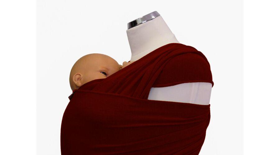 bbb3d46e8f MAGYARINDA® - Rugalmas kendő   hordozókendő   barna   újszülött ...